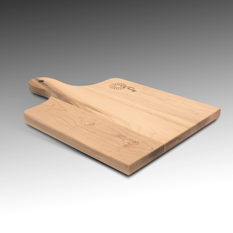 Bread board with handle made of maple wood strips)