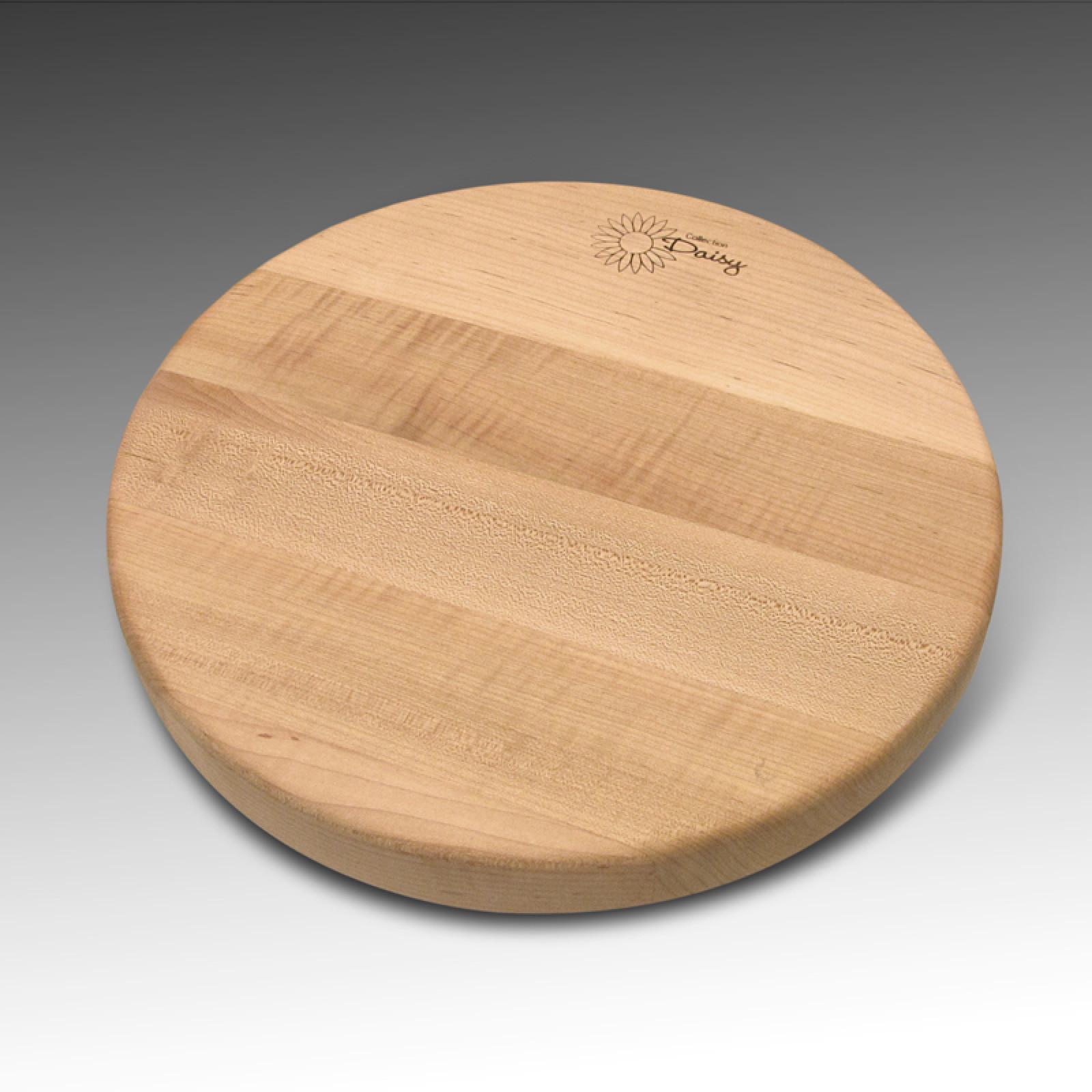 Planche a fromage ronde en rable bois de face for Planche de bois