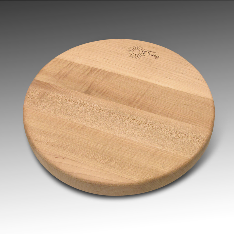Round cheese board Maple (wood front )