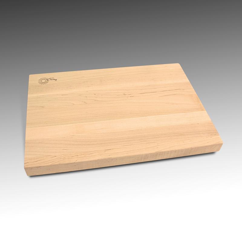 Planche à découper en érable récupéré bois de face